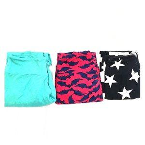 3 pairs LuLaRoe leggings
